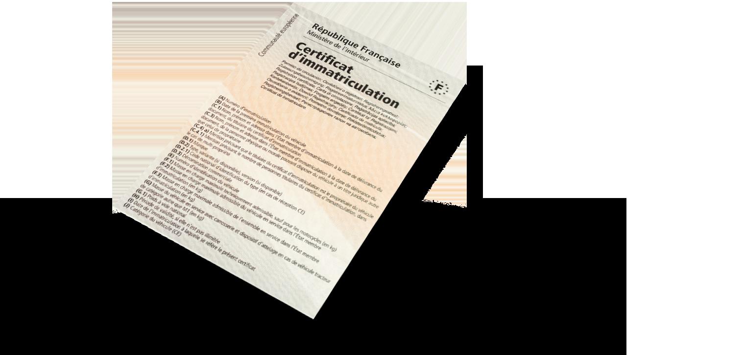 Certificat d'immatriculation à Poissy